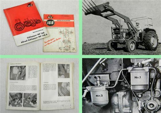 Massey Ferguson MF168 MF168 A Betriebsanleitung Bedienungsanleitung 1972