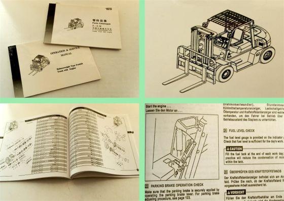Toyo 2-3.5t Gabelstapler Betriebsanleitung Ersatzteilliste servi