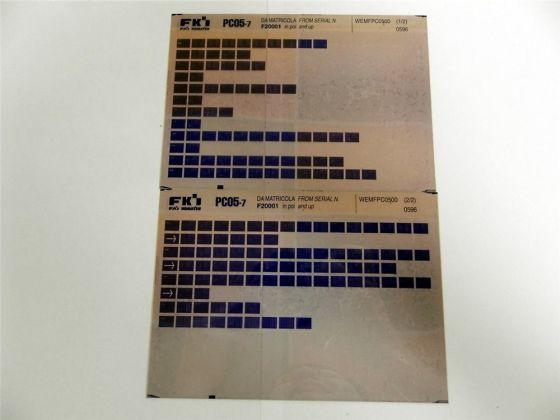 FAI FKI Komatsu PC05-7 Catalogo Ricambi Spare Parts Catalog Microfiche