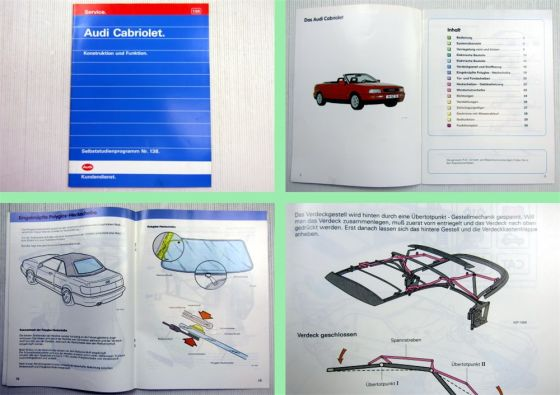 SSP 138 Audi Cabriolet Typ 8G B4 Selbststudienprogramm 1991