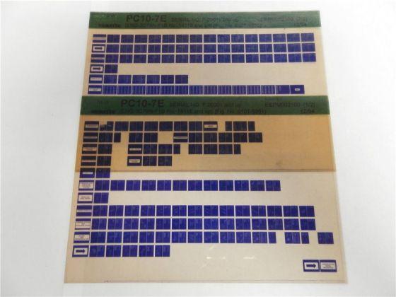 Komatsu PC10-7E Ersatzteilliste Parts Book Microfiche 1994