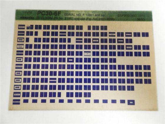 Komatsu PC30-6F Ersatzteilliste Parts Book Microfiche 1993 revise