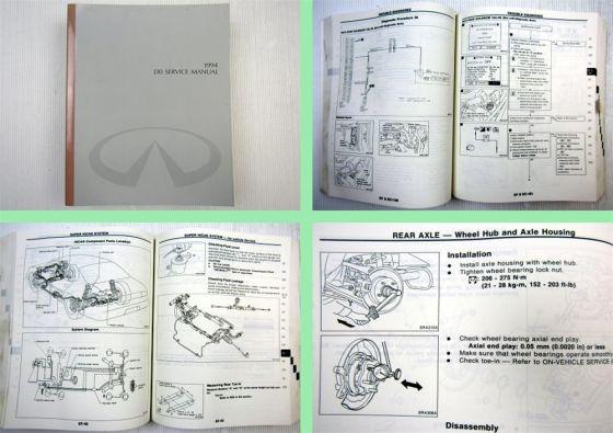 Nissan Infiniti J30 Werkstatthandbuch Service manual 1994