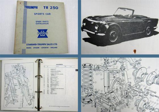 Triumph TR250 Sports Car Parts List Parts Catalogue Ersatzteilliste 1967/68
