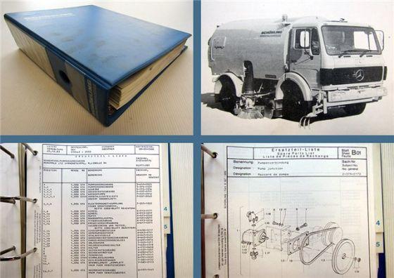 Schörling TSZ TAZ selbstaufnehmendes Kehrfahrzeug Ersatzteilkatalog 1986