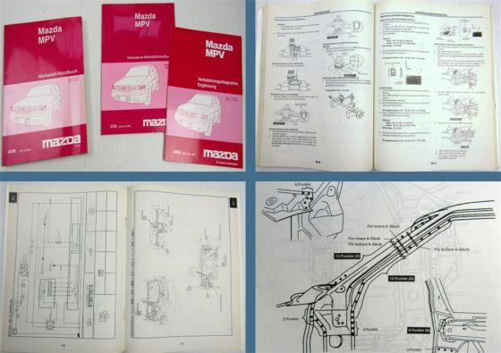 Mazda MPV Werkstatthandbuch + Karosserie + Ergänzung Verkabelungsdiagramm 1996