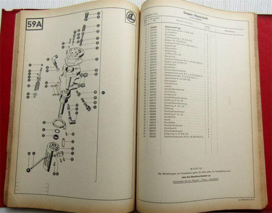Claas Matador Standard Mähdrescher Ersatzteilliste Ersatzteilkatalog 1967