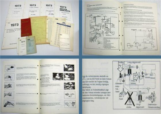 Ford 1973 US-Modelleinführung PKW Service Highlights Abgassystem Kaltstart