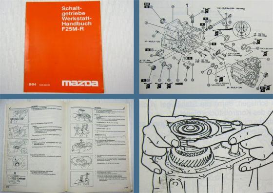 Mazda MX-3 und Mazda 323 Getriebe F25M-R Werkstatthandbuch 1994