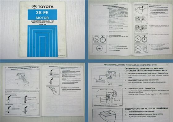 Toyota Carina E ST191 Motor 3S-FE Abgaskontrollsystem Werkstatthandbuch 1996