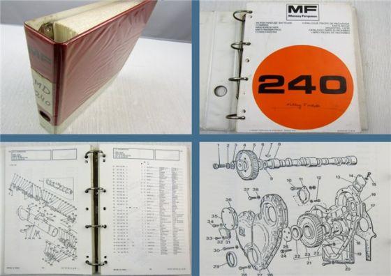 Massey Ferguson MF240 Mähdrescher Ersatzteilliste Ersatzteilkatalog Parts List