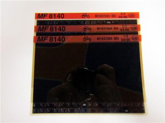 Massey Ferguson MF 8140 Schlepper Ersatzteillisten Parts List Microfiche 04/1996