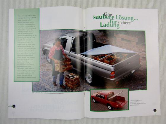 2 Prospekte Mitsubishi L200 Beschreibung Technische Daten Preisliste 1996
