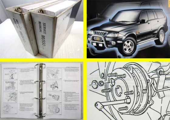 SSangYong Musso Service Manual MY2001 Engine Transmission Maintenance 2 vol.