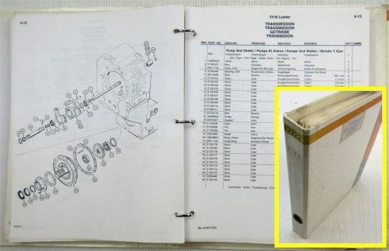Case 721B Gelenklader Wheel Loader Ersatzteilliste Parts Catalogue 1996