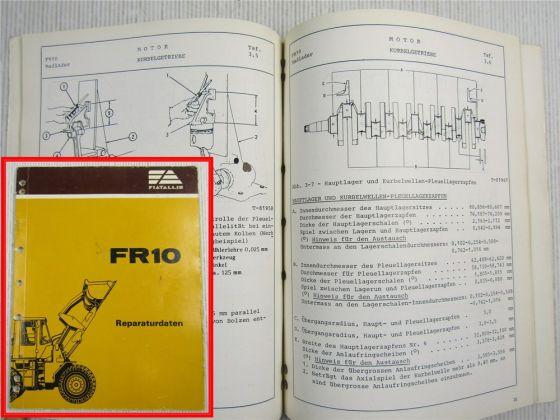Fiat-Allis Fiatallis FR10 Radlader Reparaturdaten Werkstatthandbuch 4/1982