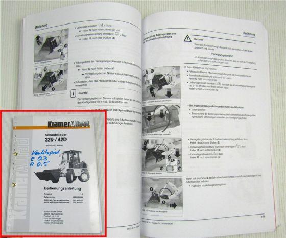 Kramer Allrad 320 420 Serie 2 Schaufellader Bedienungsanleitung Betrieb 2001