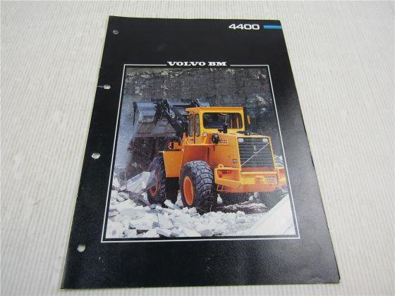 Prospekt Volvo BM 4400 Radlader 11 to ca 1984