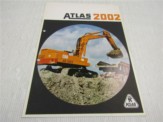 Prospekt Atlas 1302 Universal Bagger 1970