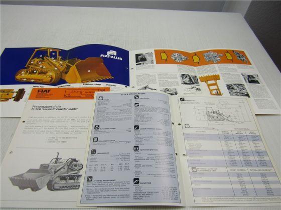 Brochure Fiat FL14B Crawler loader and Presentation Specifications 1975