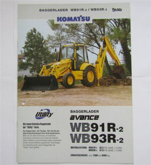 Prospekt Komatsu WB91R-2 WB93R-2 Baggerlader November 1999