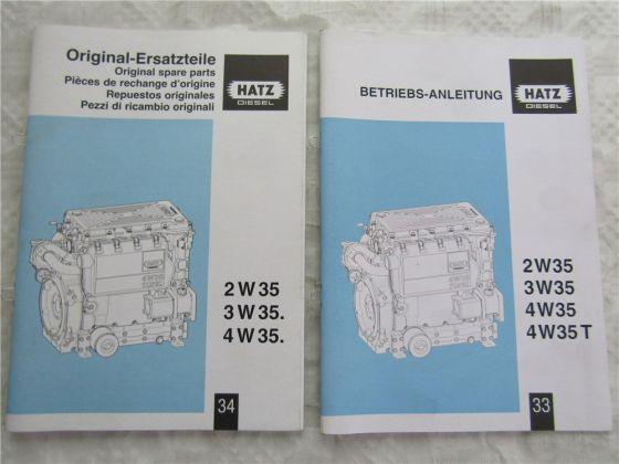 Hatz 2W35 3W35 4W35 Diesel Motor Bedienungsanleitung 2007 Ersatzteilliste 2006