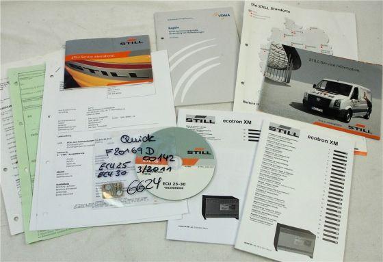 Still ECU 25 30 Ersatzteilliste auf CD 2011 und Bedienungsanleitung Ladegerät