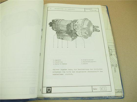 FAUN K40.4 Dumper Muldenkipper Bedienungsanleitung Betriebsanleitung