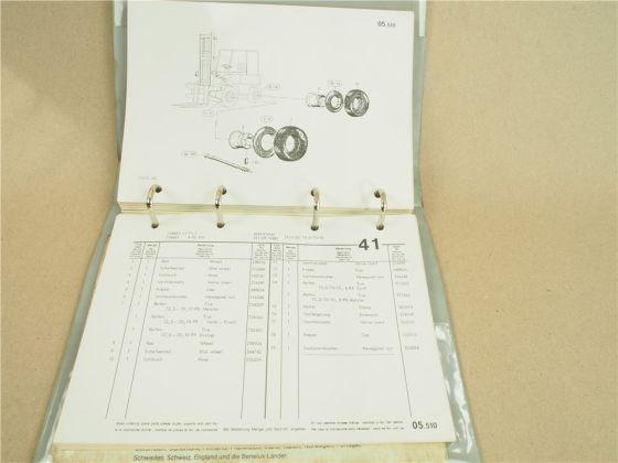 O&K A25 Gabelstapler Bedienung Betriebsanleitung Wartung Ersatzteilliste 1977