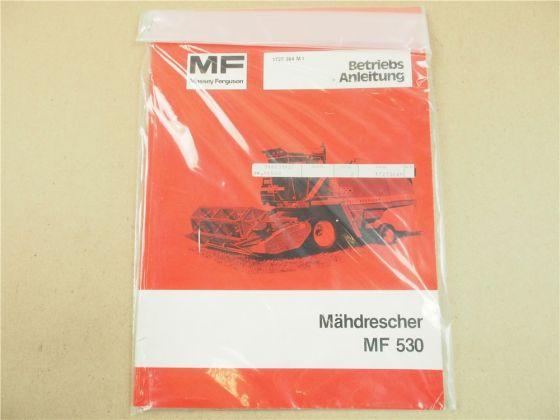 originale Massey Ferguson MF 530 Mähdrescher Betriebsanleitung 1981 Wartung