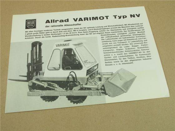 Prospekt Lanz Hela Varimot Typ NV der ratianale Allesschaffer 32 PS MWM Motor