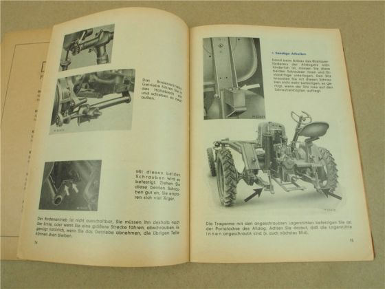 Lanz Alldog ABRV Blatt Rüben Vorratserntemaschine Betriebsanleitung Montage