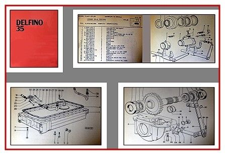 Same Delfino 35 Traktor Ersatzteilliste 1980
