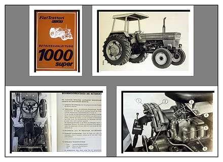 fiat 1000 super dt traktor betriebsanleitung 1976. Black Bedroom Furniture Sets. Home Design Ideas