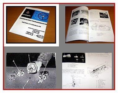 MC CORMICK Werkstatthandbuch Getriebe für Dieselschlepper 353 IHC