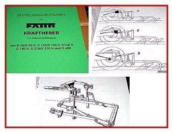 Fahr D90 D130 D160 D180 D270 D400 Kraftheber Betriebsanleitung
