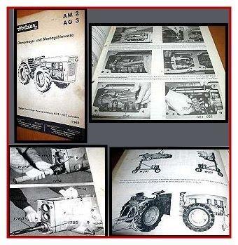 Reparaturanleitung Holder AM2 AG3 Schlepper Werkstatthandbuch 1968