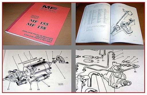 massey ferguson mf 155 mf 158 ersatzteilkatalog 1977. Black Bedroom Furniture Sets. Home Design Ideas
