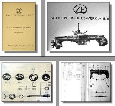 ZF A-8/6 Triebwerk Bedienung & Ersatzteilliste