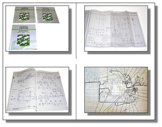 Toyota Hiace RZH / LH Schaltpläne Elektrik Werkstatthandbuch 198 ...
