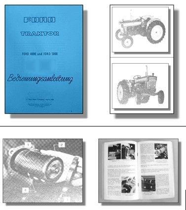 Ford 4000 5000 Traktor Bedienungsanleitung - Fachliteraturversand An ...