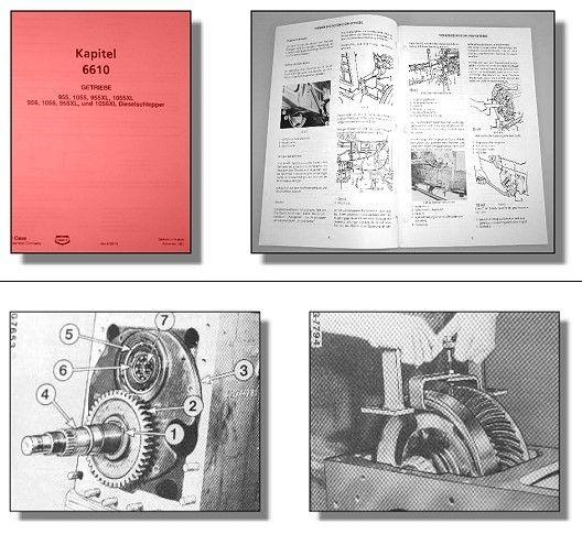 IHC Mc Cormick Werkstatthandbuch Getriebe für Traktor 955