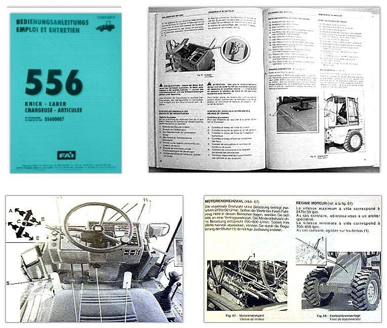 Fai 556 Knicklader Betriebsanleitung / Wartung ...