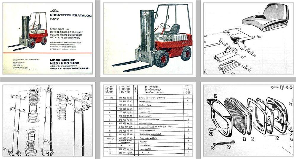 Linde H20 H25 H30D Gabelstapler ab 83 Betriebsanleitung ...