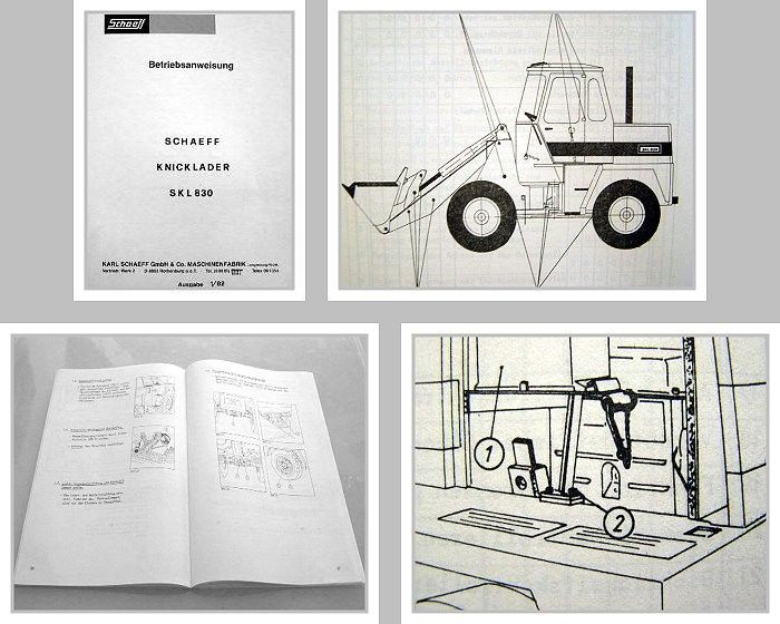 schaeff skl 830 hydraulik knicklader betriebsanleitung. Black Bedroom Furniture Sets. Home Design Ideas