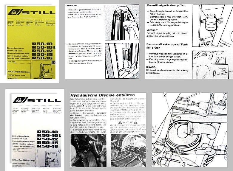 STILL R50-10 bis R50-16 Gabelstapler Wartungsanleitung ...