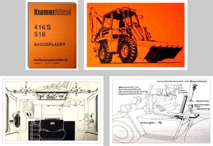 Prospekt mit Technischen Daten Kramer Allrad Baggerlader 516 von 10//1979