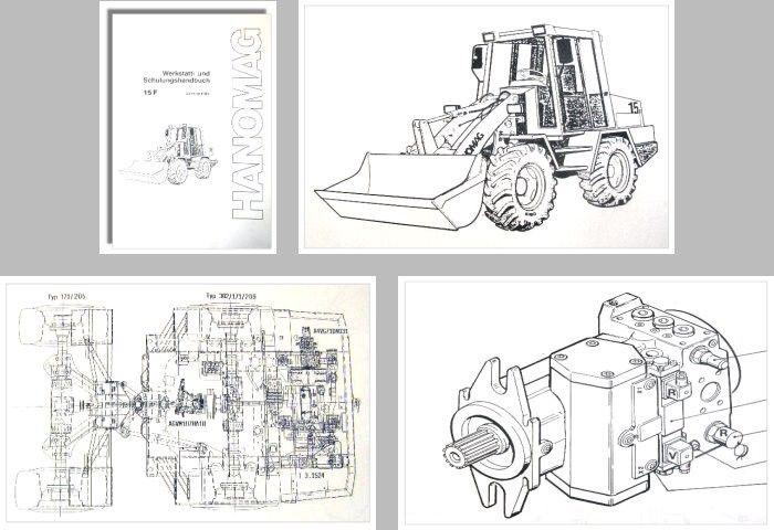 Hanomag 15F Radlader Schulung Werkstatthandbuch 1993 ...