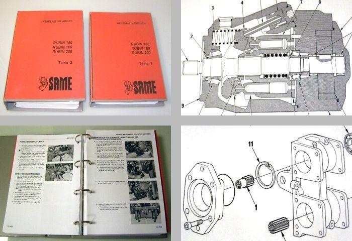 Same Rubin 160 180 200 Werkstatthandbuch in 2 Bd ...