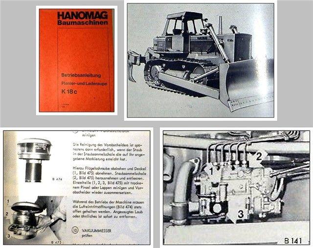 HANOMAG K18c Betriebsanleitung Wartung Schaltplan ...